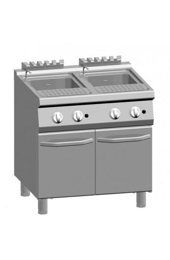 Cuiseur à pâte gaz 2 x 24 litres 700 mm