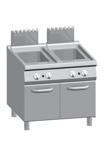 Cuiseur à pâte gaz 2x40 litres 900 mm