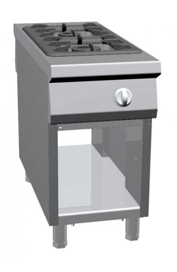 Fourneau central gaz 2 brûleurs 1100 mm