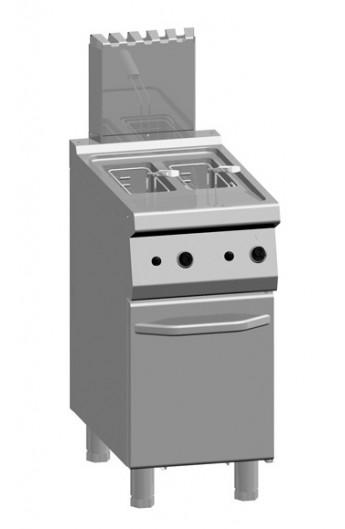 Friteuse gaz 2 x 7 litres 700 mm