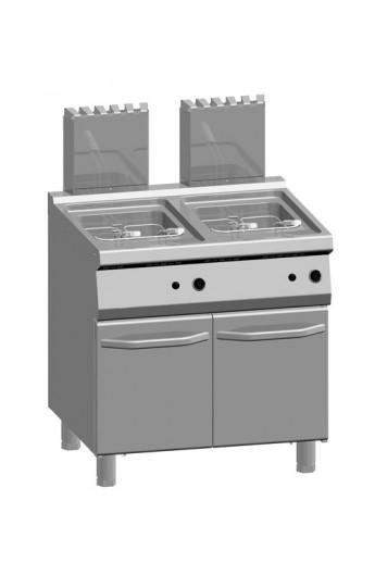 Friteuse gaz 2 x 15 litres 700 mm