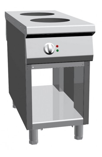 Double Wok central à induction 1100 mm