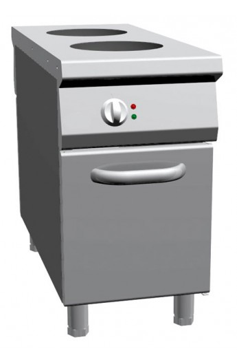 Double Wok central à induction placard 1100 mm
