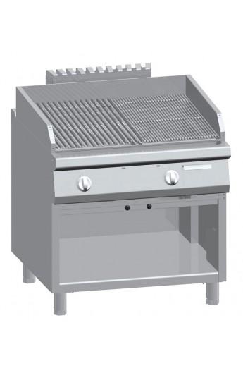 Gril lavique pour viande/poisson 800 x 900 mm