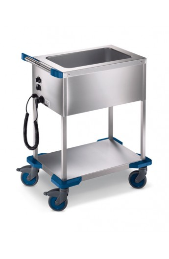 Chariot distribution repas chaud 1 X GN1/1