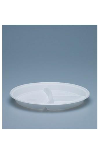 Assiette à dîner 3 compartiments 23 mm (1000)