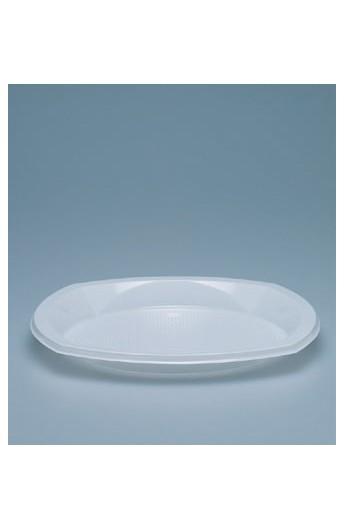 Assiette à dîner 1 compartiment 22 mm (1000)