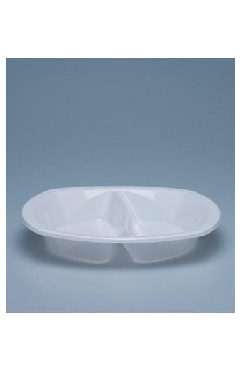 Assiette à dîner 2 compartiments 35 mm (1000)