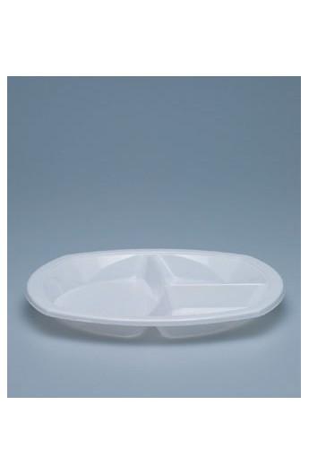 Assiette à dîner 3 compartiments 22 mm (1000)