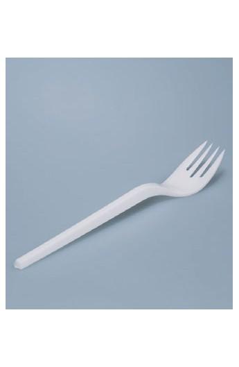 Fourchette plastique blanche (2000)