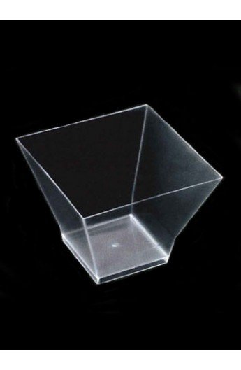 Verrine carrée transparente 65 cc (500)