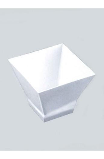 Verrine carrée blanche 65 cc (500)