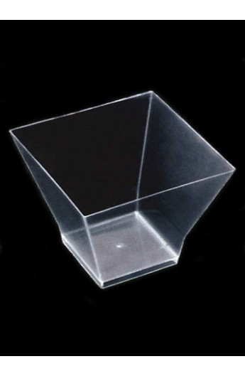 Verrine carrée transparente 120 cc (500)
