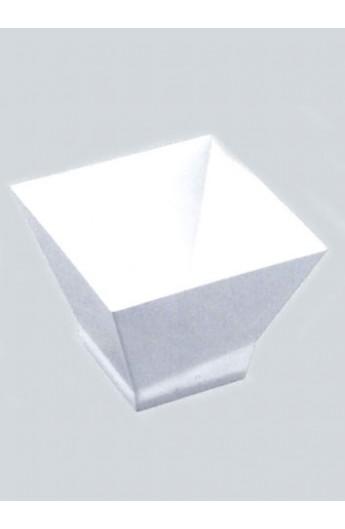Verrine carrée blanche 120 cc (500)