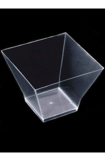 Verrine carrée transparente 200 cc (240)