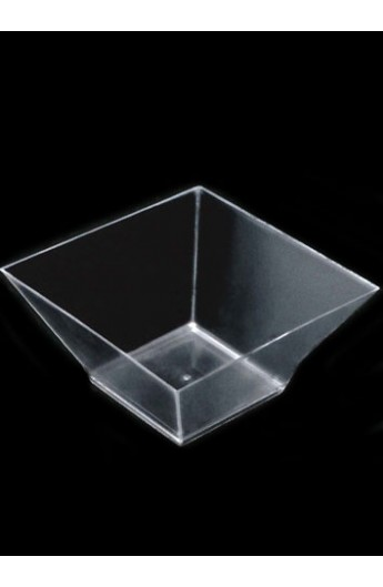 Verrine Carrée Transparente 500 Cc (120)