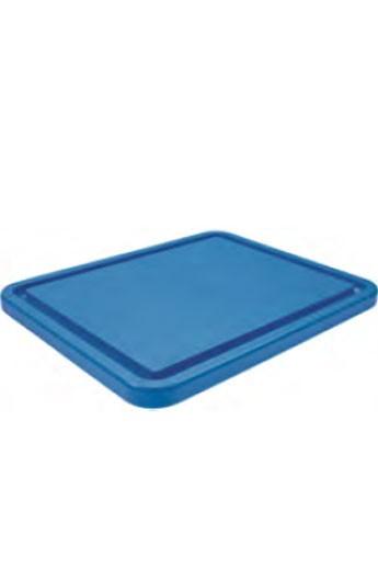 Planche à découper bleu avec rainure GN 1/1