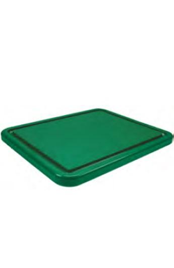 Planche à découper verte avec rainure GN 1/1