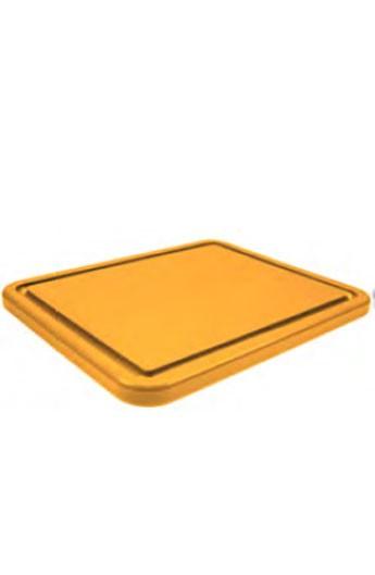 Planche à découper jaune avec rainure GN 1/1